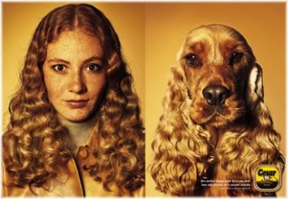 woman looks like dog