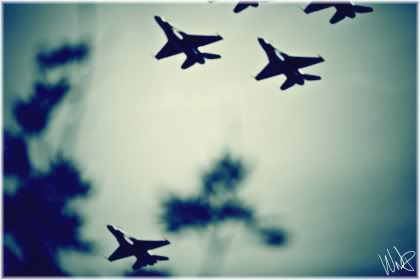fighter jets in sky