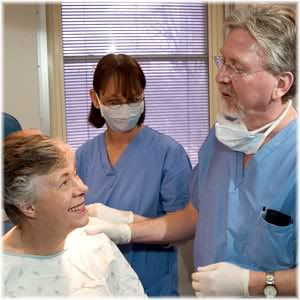 patient with surgeon