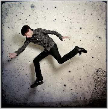 man jumping flying