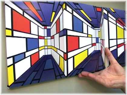 3D painting on wall