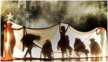 people dancing in tent