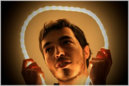 man with halo