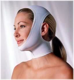 woman head bandage