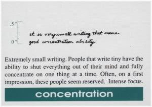 concentration handwriting